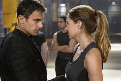 Shailene Woodley as Tris with Theo James as Four