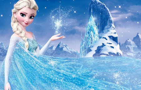 Elsa and her beautiful Ice Palace