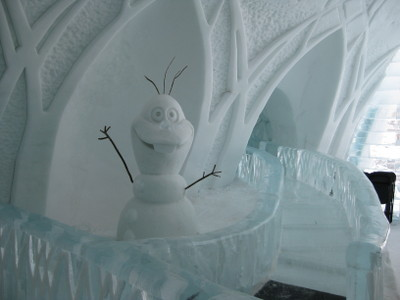 Olaf and the slide