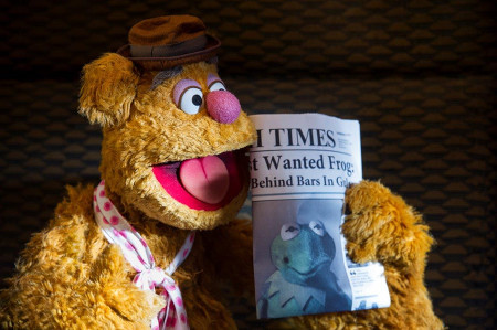 Fozzie Bear finally realizes Kermit and Constantine look the same