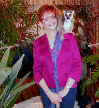 Your reporter with ringtailed lemur