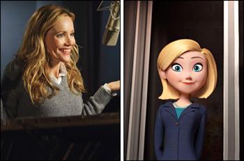 Leslie Mann voices Penny's mom Patty
