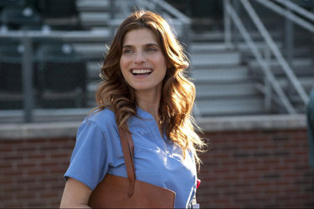 Brenda (Lake Bell) watches the guys train
