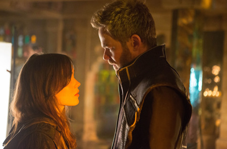 Kitty Pryde (Ellen Page) with Iceman (Shawn Ashmore)