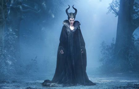 Dark fairy Maleficent in her forest lair