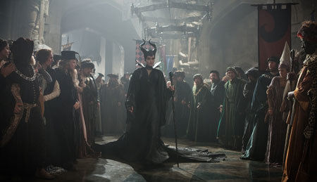Maleficant about to bestow her curse