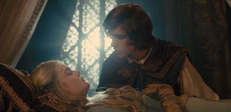 Sleeping Aurora and the prince