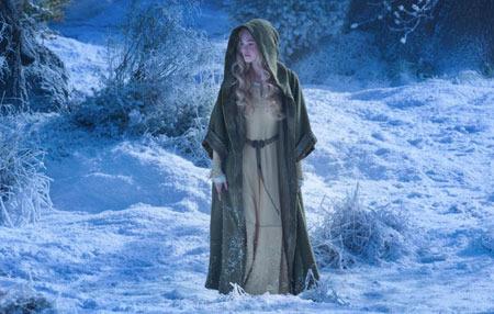 Aurora in the woods seeking her fairy Godmother