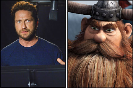 Gerard Butler as Hiccup's dad Stoick