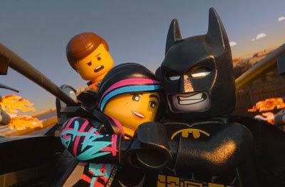 Emmet jealous of Batman and Wyldstyle