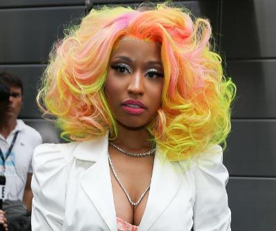 Nicki's multi-colored curls