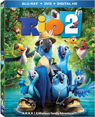 Rio 2 Blu-ray and DVD Cover