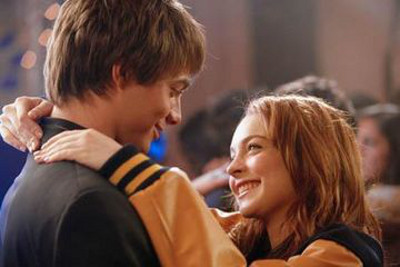 Cady and Aaron in Mean Girls