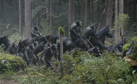 Apes on the march