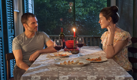 James Marsden as Dawson and Michelle Monaghan as Amanda
