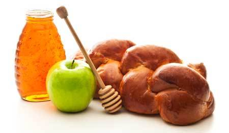 Honey, apples and challah are traditional Rosh Hashanah foods