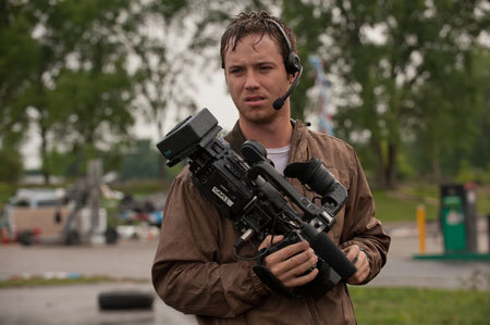 Jeremy Sumpter as Jacob with camera