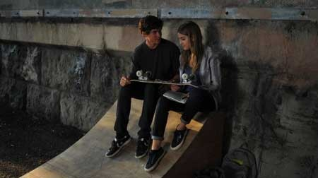 Beckett and Tobey after a skateboard lesson