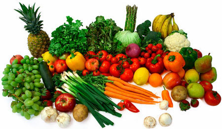 Try to eat the colors of a rainbow in veggies