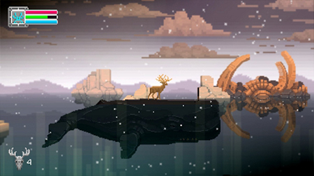 A deer on a whale? Sure, why not!