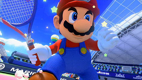 Mario is ready for the match!