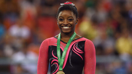 Simone holds the most world gold medals of any female gymnast
