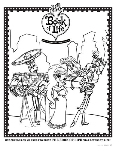 The Book of Life coloring sheet