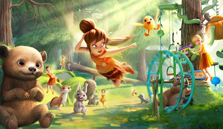 Fawn with her animal friends