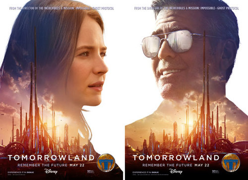 TOMORROWLAND Posters featuring Britt Robertson and George Clooney