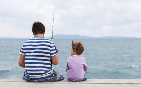 Fishing is a fun activity to do with your Dad