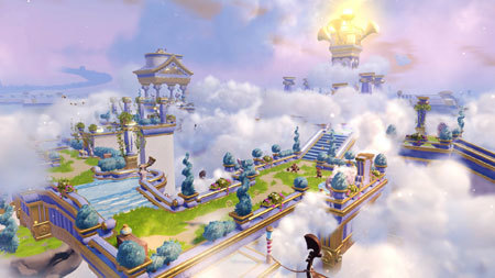 ne of the levels you'll play on is a land in the clouds