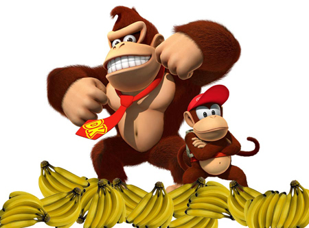 Donkey Kong with Diddy Kong