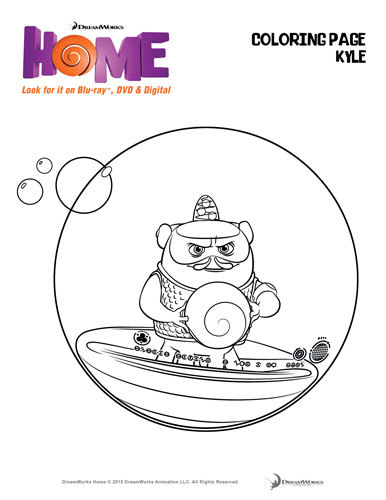 oh from the movie home coloring pages - photo #18