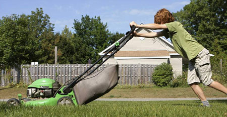 Mowing the lawn is a way to make some extra cash and help out around the house