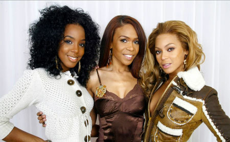 Beyonce with Destiny's Child members Kelly Rowland and Michelle Williams