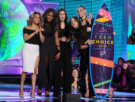 Fifth Harmony winners of the Choice Summer Song