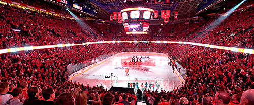 Pengrowth Saddledome is home of the Calgary Flames