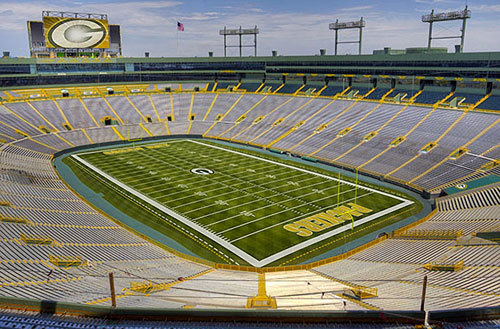 Lambeau Field is home of the Green Bay Packers