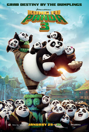 The Kung Fun Panda 3 poster