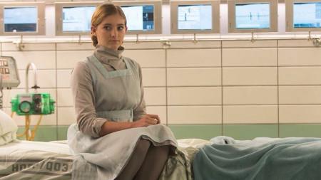 Prim in her nurse uniform