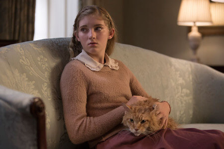 Willow as Prim with her cat