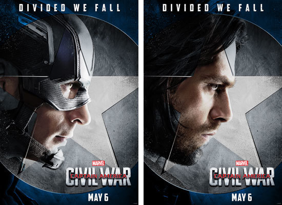 Captain American and Winter Soldier Posters