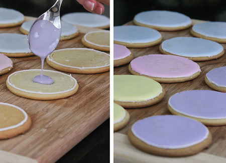 Pastel iced Easter cookies