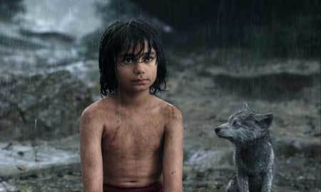 Mowgli with his young wolf brother