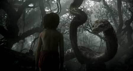Mowgli confronts Kaa