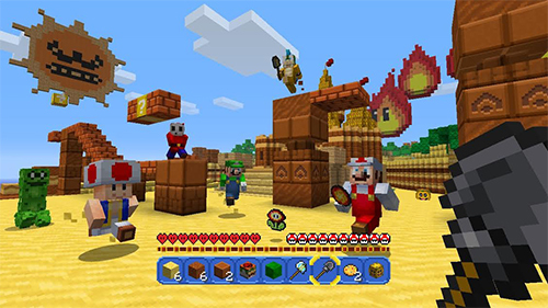 Fire Mario jumps into action on the Wii U!