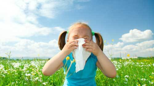 Allergic reactions can include a runny nose or itchy, watery eyes