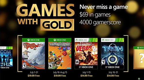 The upcoming Xbox Games With Gold.