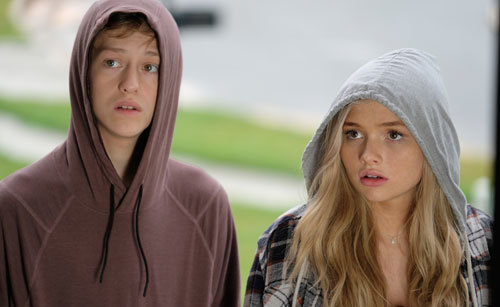 Percy as Andy with his sister Lauren (Natalie Alyn Lind)
