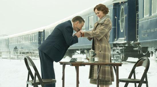Poirot (Kenneth Branagh) greets Miss Debenham